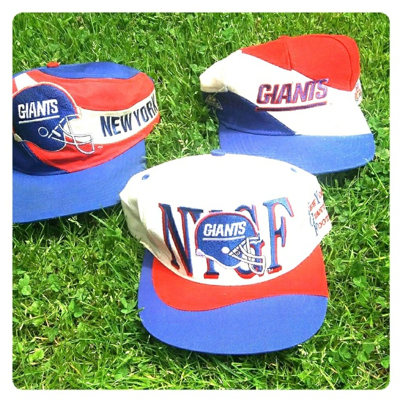 f79106c4 3 vintage New York Giants hats. All 3 are snapback